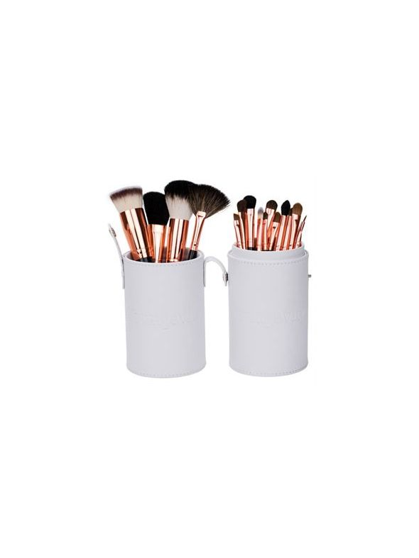 Mineral Makeup Brush Kit - White Case