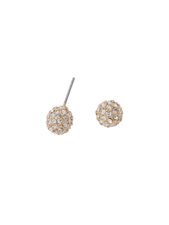 Gold Crystal Pave Studs