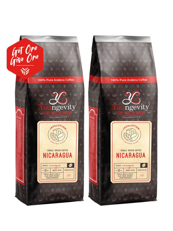 Javalution Club Single Origin Coffee Limited Edition—Nicaragua Whole Bean  (12oz) [QTY: 2 | Get One, Give One FREE]